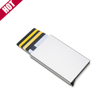 Men And Women Smart Wallet Aluminum Alloy Credit Card Holder RFID Business Casual Anti-theft Card Holder Mini Purse For Women
