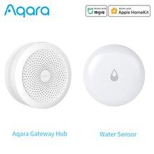 Aqara sensor de nível de água ip67 sensor de imersão de água detector de vazamento de água alarme de controle zigbee trabalho para o aplicativo mihome