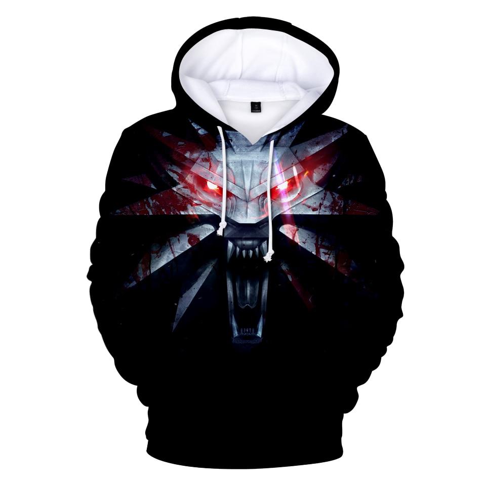 Hoodie Sweatshirt Pullovers Couple Streetwear Long-Sleeve Hip-Hop Cool 3D Witcher 3 Men/women
