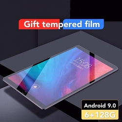 Najnowsza gorąca sprzedaż 10.1 calowy Tablet z Wifi Learning 6 + 128GB duża pamięć Android 9.0 Pc na dwie karty sim Dual Standby 4G GPS