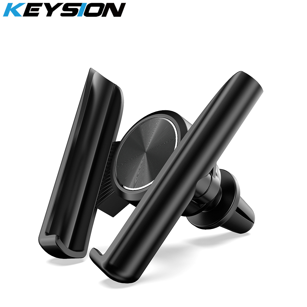 KEYSION Universal Car Phone Holder Long Holder Phone In Car Air Vent Mount Car Holder Stand For IPhone Samsung Xiaomi Huawei LG