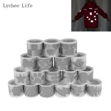 Lychee Life 25 мм x 1 м светоотражающая лента Железная на ткани Одежда DIY теплопередача виниловая пленка ручной работы
