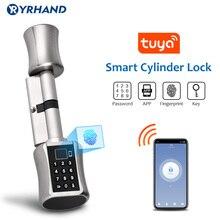 Bluetooth Smart Lock Electronic Cylinder Outdoor Waterproof Biometric Fingerprint Scanner Keyless Door Locks With tuya app