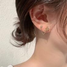 Drop-Earrings Chain Jewelry Zircon Star MENGJIQIAO Elegant Butterfly Korean Fashion Cute