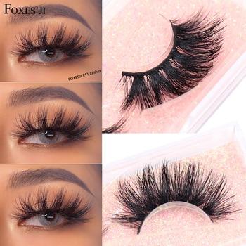 FOXESJI False Eyelashes 3D Mink Lashes Cruelty free Thick Cross Soft Faux Cils Eyelashes Eyelash Extension Fluffy E11Eye Lashes недорого