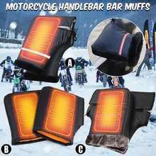 Paire gants moto hiver thermique chauffe gants Scooter moto Motocross guidon manchons étanche