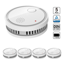 CPVan ES63-A5 5pcs/Lot Smoke Detector CE Certified Fire Alarm Detector EN14604 Listed Sensor Detector for Home Security Systems