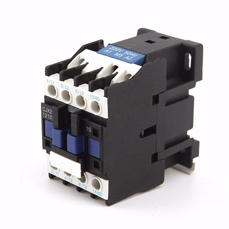 Montagem magnética do trilho do ruído da bobina 110 35mm da c.a. 24 v 220 v 380 volts CJX2-1210 v do polo 1no do relé 12a 3 p 3 do contator do motor de 3 fases