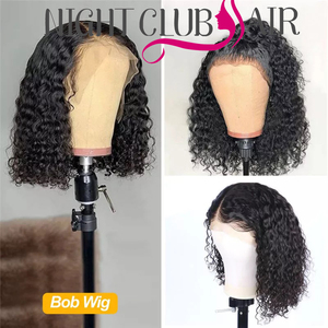 Curly Bob Lace Front Wigs 100% Human Hair Swiss Lace Wig Short Black Curly Lace Front Wig Cheap Wigs