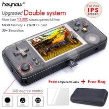 HEYNOW rs97 Plus двойная система Ретро игровая консоль 30+ эмуляторы ips экран портативный игровой плеер 360 градусов контроллер