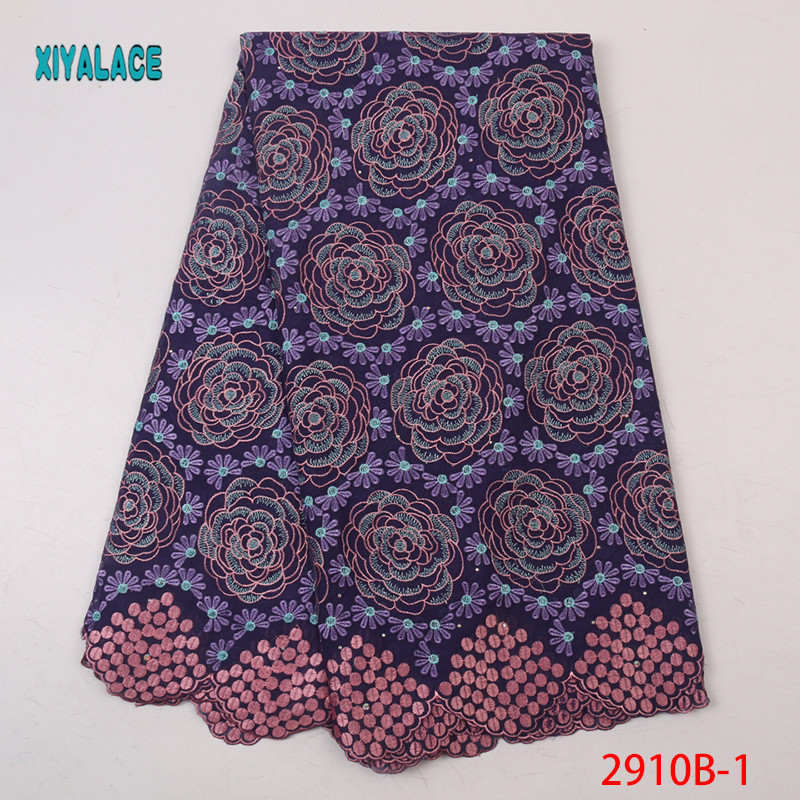 High Quality African Lace Fabrics 2019 Nigerian Flower Embroidery Lace Fabrics For Women Lace Fabrics YA2910B-1