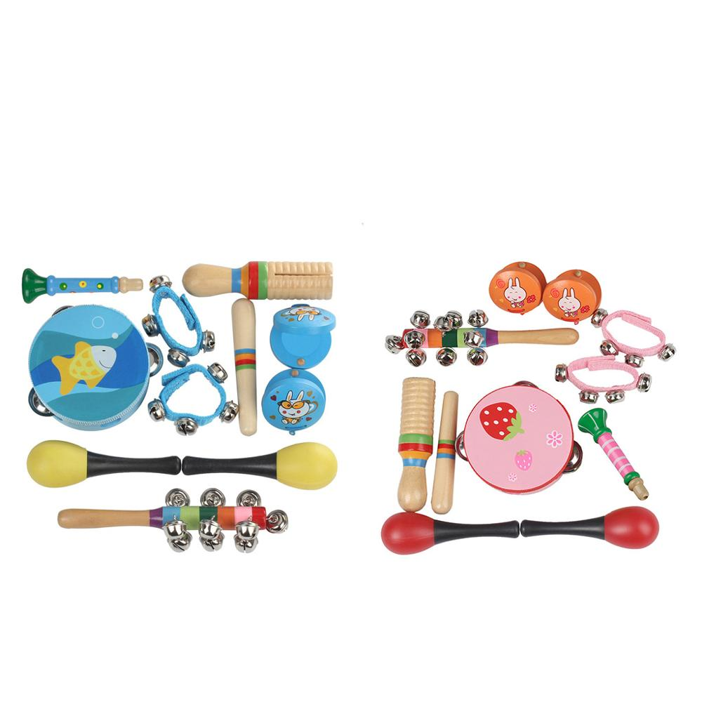 Toy Percussion Musical-Instruments-Set Orff Combination Teaching-Aids Kindergarten Early-Childhood