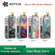 Hot Sale NEW Hotcig Marvel 40W AIO Vape Kit with 1200mAh Built-in Battery 2ml Ca