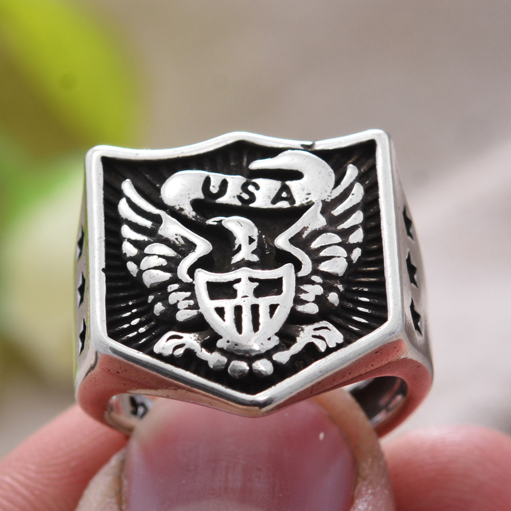 Men Ring Eagle-Wings Birthday-Gift 100%925-Sterling-Silver Jewelry Hip-Hop for Man Hot-Sell