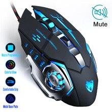 Profesjonalna mysz dla graczy 3200DPI ledowy USB optyczny przewodowy myszy komputerowe Gamer Mause Cable Game ergonomiczna mysz do laptopa PC