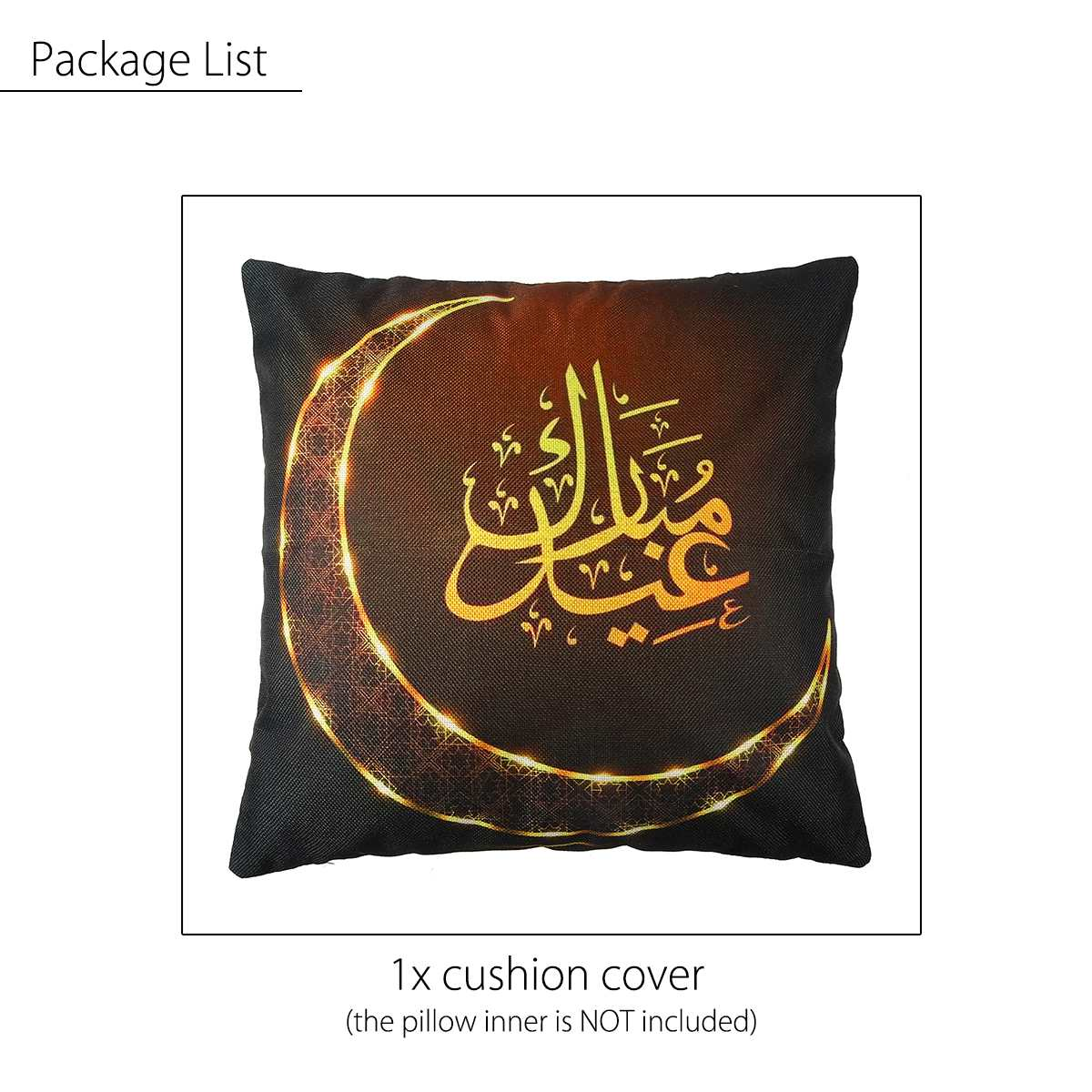 EID Ramadan Cushion Cover Islam Muslim Pillow Case Polyester Decorative Pillowcases Sofa Home Decor Pillow Cover Square 45*45cm