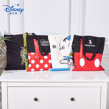 july s song new fashion high capacity pu handbag beautiful high qualitytravel bag for women and family lunch bag 2020 New Disney Mickey Minnie Fashion Trend Handbag Donald Duck Portable Canvas High Capacity Oortable Bag Lunch Box Bag