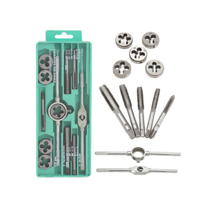 Image 4 - 20/40pcs tap die set M3 M12 Screw Thread Metric Taps wrench Dies DIY kit wrench screw Threading hand Tools Alloy Metal with bag