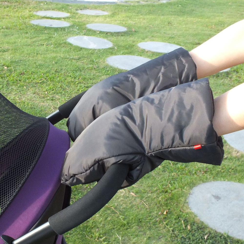Winter Pram Hand Muff Baby Carriage Pushchair Warm Fur Fleece Hand Cover Buggy Clutch Cart Muff Glove Child Stroller Accessories