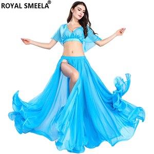Image 5 - Venta caliente envío gratis nuevas mujeres traje de danza del vientre ropa de danza del vientre sexy chica de moda danza del vientre faldas de gasa Top bailarina ropa de rendimiento