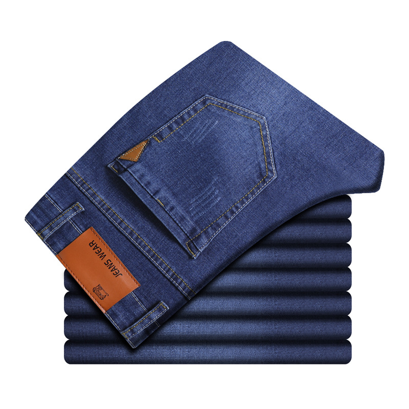 TANGYAXUAN Brand 2019 New Men's Slim Elastic Jeans Fashion Leisure Classic Style Skinny Jeans Denim Pants Trousers Male