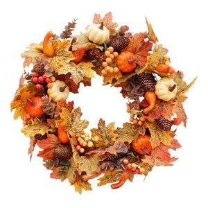 Autumn Theme Door Wreath Artif