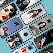 Negro Tpu Capa para Xiaomi Redmi Nota 8 9S 8T 9 7 10X 5G K30 Pro Zoom 7A 8A K30i Coque teléfono casos Lana Del Rey hermosa
