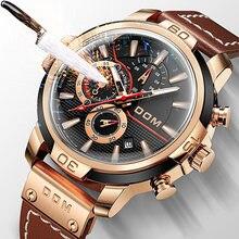 Dom relógios à prova dwaterproof água relógios masculinos esportes relógio de pulso masculino homem relógio de pulso presentes para homem multifunções relógio 1324