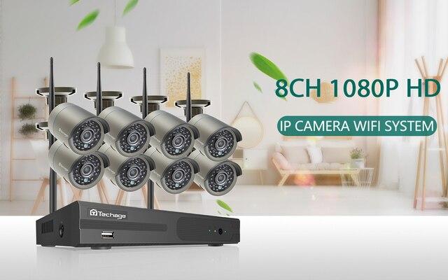 Камера Наружного видеонаблюдения techage h265 беспроводной сетевой