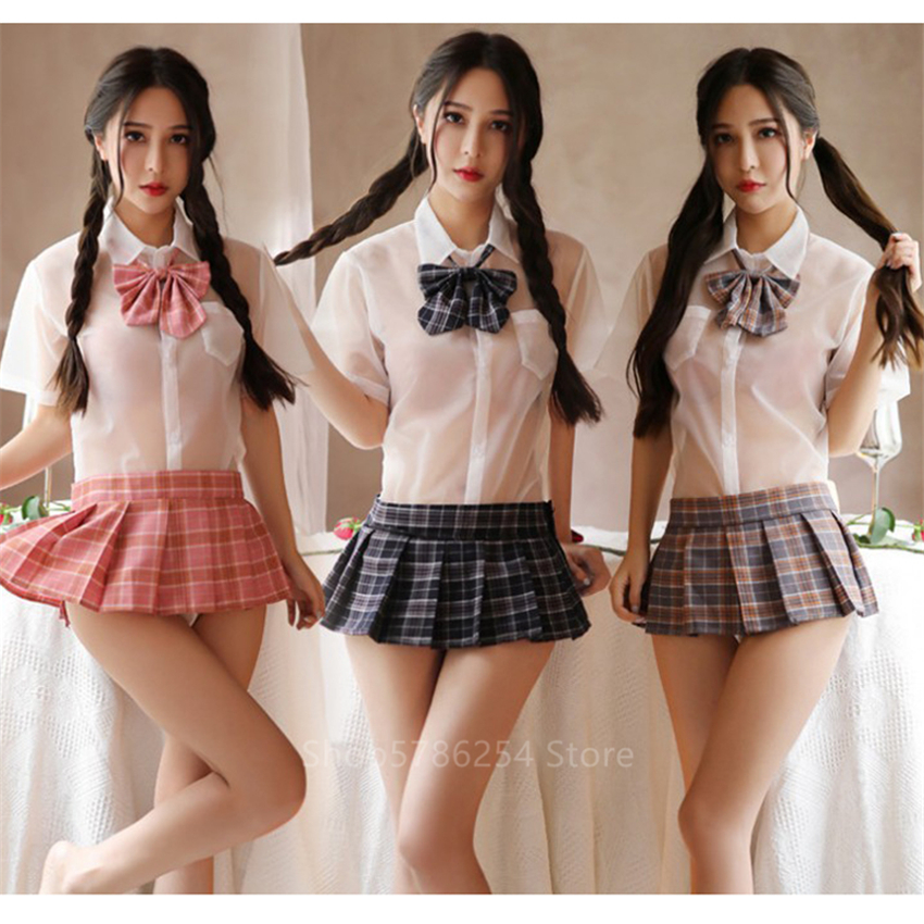 Japanese Style Student School Uniform Kawaii Girls Pleated Skirts For Woman College JK Sexy Sailor Party Anime Cosplay Navy Mini