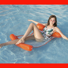 Floating on water inflatable reclining chair inflatable floating on drainage floating inflatable hammock
