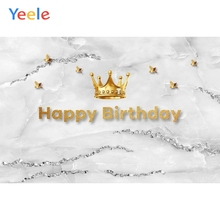 Yeele Golden Marble Grain Crown Birthday Backdrops for Photography Backgrounds Photophone Vinyl Photographic Photo Studio Props