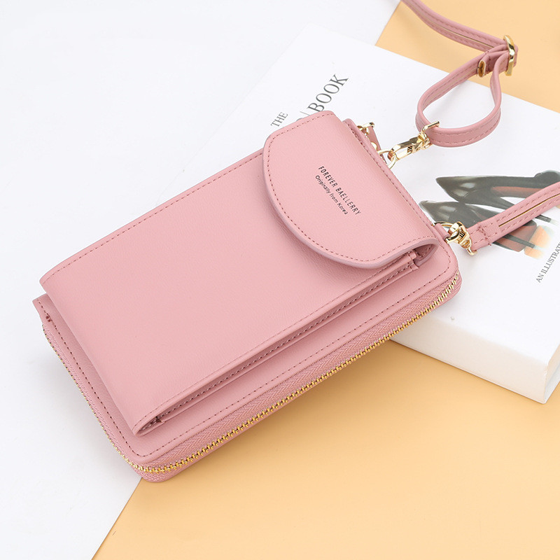 2020 New Fashion Women Small Handbag Female Long Purse Coin Cell Phone Mobile Phone Crossbody Shoulder Bag In Macaron Colors