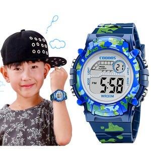 Kids Watches Flash Waterproof-Clock LED Navy-Blue Digital Girls Colorful Creative Boys