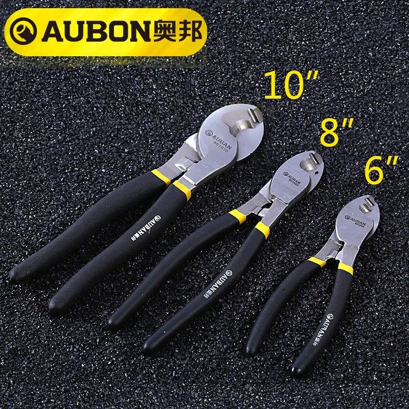 """AUBON 6 ''/8""""/10 """"Heavy Duty Kabel Cutter Elektrische Draht Schneiden Stripper Zange Werkzeug"""