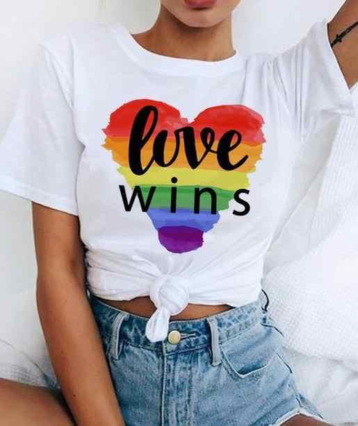 T-shirt dziewczyny Rainbow drukuj z krótkim rękawem Harajuku kobiet T koszula moda Hip Hop Top lato w stylu kobiet T Shirt camiseta Mujer