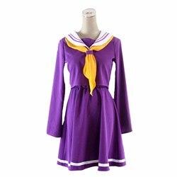 No game no life cosplay Shiro disfraz halloween mujeres ropa carival vestido pelucas traje de marinero uniforme escolar japonés
