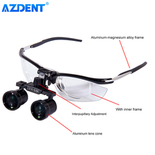 Dental Medical Binocular Loupe Aluminum Variable Loupes Zoom Magnifier Magnification DY-113 2.5X-3.5X