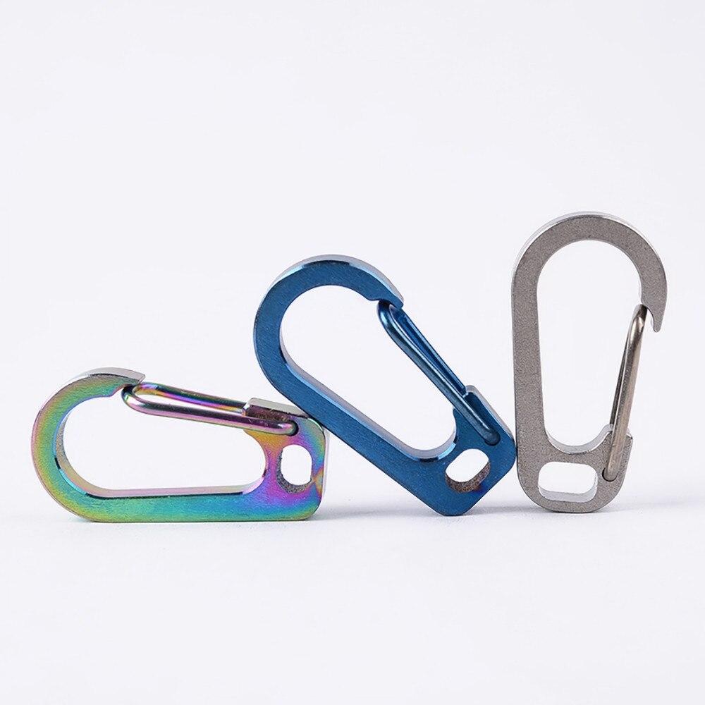 High Quality EDC Titanium Alloy Carabiner Keychain Buckle Hanger Carabiner Keyring Holder Carbine Climbing Accessories
