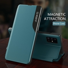 Leather Smart View Window Flip Covers for Samsung Galaxy A02s A12 A32 A42 A52 A72 5G A 12 32 42 52 5G Case Magnetic Holder Coque
