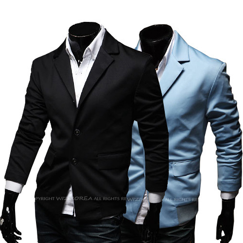 Whatlees New Style Korean-style Men Screw Type Mixed Colors Slim Fit Small Suit X31