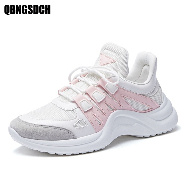 Women Shoes New Breathable Mesh Casual Shoes Women Fashion Sports Shoes High Quality platform Women Vulcanized Shoes Size 35-43