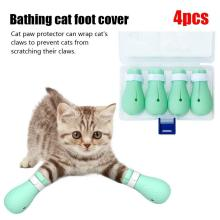 Anti-Biting Pet Cat Bath Washing Claw Cover Cut Nails Foot Paw Protector Anti-Scratch Shoes D35