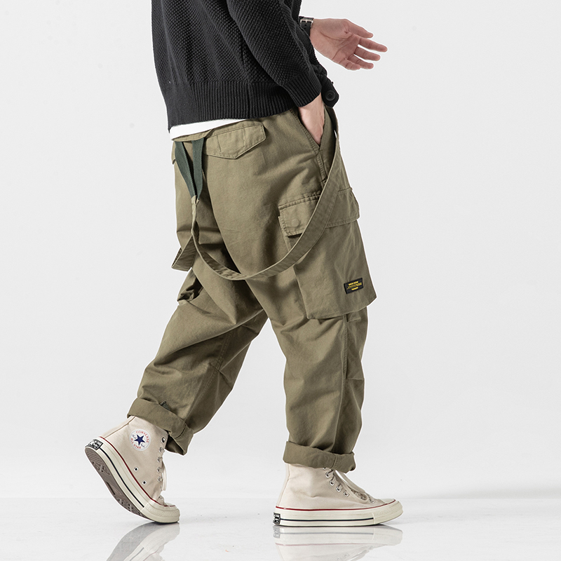Men Multi-pocket Straight Jumpsuits Cargo Pants Overalls Male Streetwear Hip Hop Loose Casual Harem Trousers Joggers Sweatpants