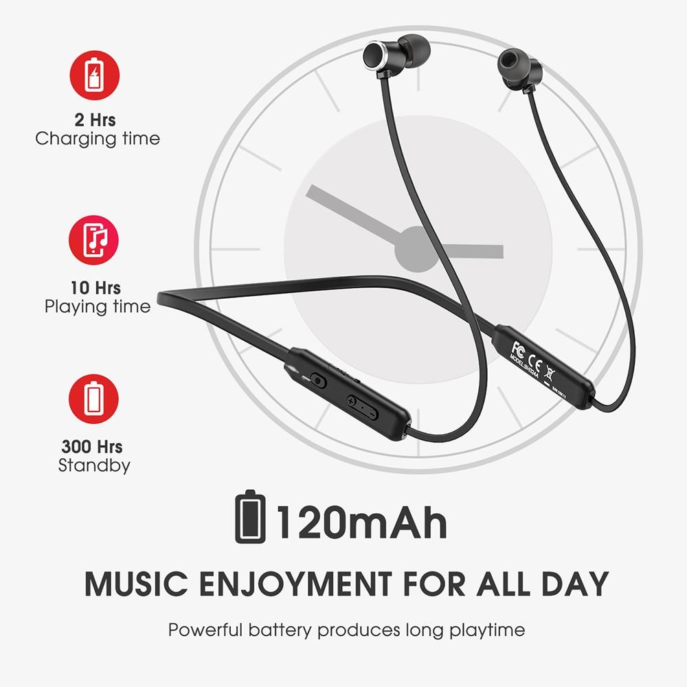 Image 4 - Mpow A7 Wireless Earphone Bluetooth 5.0 Sport Earphones IPX7  Waterproof Hifi Stereo Headphone With Mic For Hornor Huawei  iPhoneBluetooth Earphones