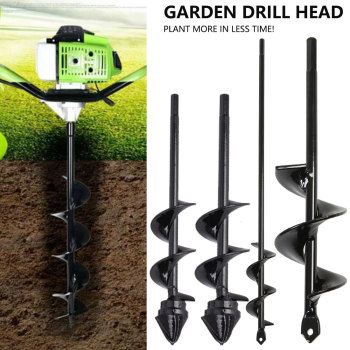 Auger Drill Bit for Planting Drill Auger Yard Gardening Bedding Planting Hole Digger Tool Replacement Garden Tool Earth Drill a time for planting v 1