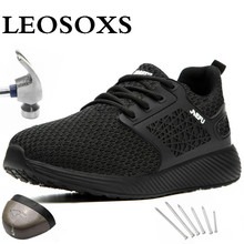 Men Boots Sneakers Safety-Shoes Construction Non-Slip Reflective Big-Size Comfort 48