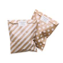 50 teile/paket Kraft Papier Taschen Welle Dot Süßigkeit Keks Tasche für Geschenk Verpackung Hochzeit Geburtstag Party Verpackung Liefert