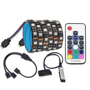 SATA LED Strip Light 5050 RGB DC12V Sata power supply interface for PC Computer Case,17Key RF Remote Control LED Strip Light(China)
