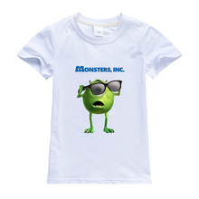 Disney Cartoon Child T Shirt Monsters, Inc. Mike Printing Clothes Anime Figures Clothing Boys Girls Toddler Tops Infant Tees